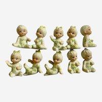 UOGC Baby of the Month Bisque Corn Pajama Children Japan Figurines