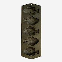 Vintage Lodge Cast Iron Fish Mold