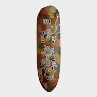 Australian Aboriginal Hand Painted Wood Bark Art Dot Shield