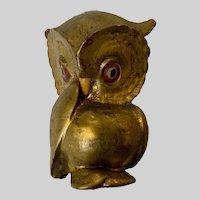 Witty Freeman McFarlin Mid-Century Gold Owl Figurine Rare