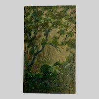 Phillip A Ramos, Dawn Garden Scene Oil Painting 1925