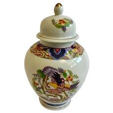 Imari Ware Ginger Spice Jar with Bird Ceramic Transferware Made in Japan