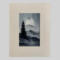 Jack Dietrich (1918-2002) Mountain Landscape Watercolor Painting New Mexico Artist