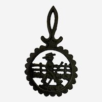Cast Iron Country Boy Footed Trivet Wall Decor