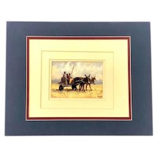 Malachi Smith, Farmers in Donkey Cart Giclee Print South African Artist