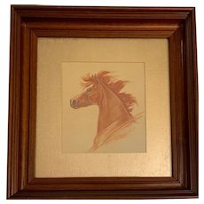 Kaisa, Horse Portrait Watercolor Painting