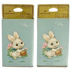 Mid-Century Easter Bunny Tally Books For Progressive Bridge