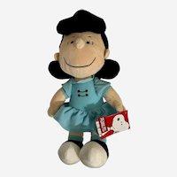"Peanuts Lucy Cartoon Character Plush Stuffed 13 "" Snoopy's Friend"