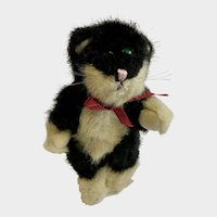 Boyds Collection Black and White Cat Plush Jointed