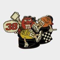 Nascar Racing M&M's Advertising Pit Crew Hat Pin
