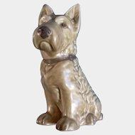 Sylvac Mac Scottie Dog #1207 RD NO 778504 Toast Colored Ceramic Figurine Made in England