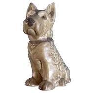 Sylvac Mac Scottie Dog #1207 RD NO 778504 Toast Colored Ceramic Figurine Made in England