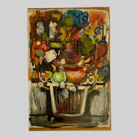 John Witaschek, Modern Expressionist Still Life Oil Painting