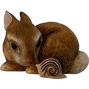 Bunny Snail Slowpoke Deborah Bell Jarett Franklin Mint Figurine