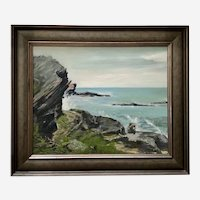 Anne Charles Ryall, Bermuda Seascape Oil Painting