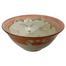 Adorable Kitty Cat Decorated Cereal Bowl