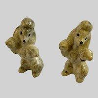 Vintage Begging Poodle Dog Dollhouse Miniature Figurines