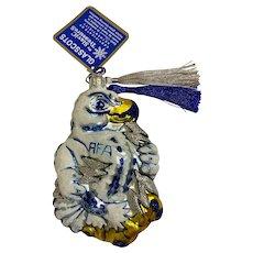 US Air Force Academy Glasscots Falcons Mascot Glass Ornament