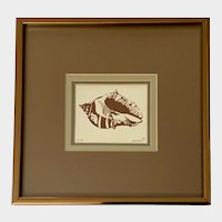 Susan Shepard Conch Shell Silkscreen Screen Print