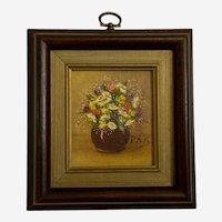 Pauline H Petersen, Mini Wildflower Vase Floral Oil Painting