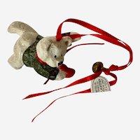 Vintage House of Hatten Christmas Ornament Denise Calla White Bear
