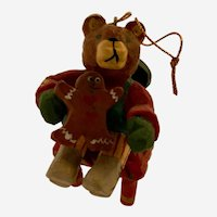 Vintage House of Hatten Christmas Ornament Denise Calla Brown Bear Chair