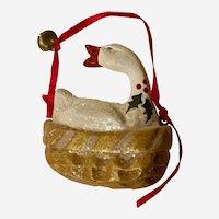 Vintage House of Hatten Christmas Ornament Denise Calla Goose Basket