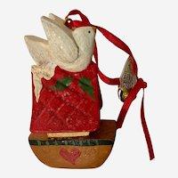 Vintage House of Hatten Christmas Ornament Denise Calla Noah's Ark White Dove