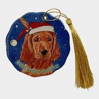 Santa Irish Setter Dog Christmas Ornament Pipsqueak Holiday