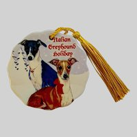 Italian Greyhounds Pipsqueak Dog Christmas Holiday Ornament
