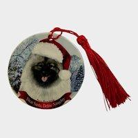 Keeshond Santa Dog Christmas Ornament Pipsqueak Holiday