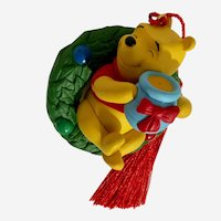 Winnie the Pooh Bear Hunny of a Holiday Christmas Ornament Hallmark Keepsake