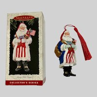 American Merry Olde Santa Christmas Ornament 1996 Hallmark Keepsake