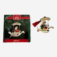 Mother Goose Christmas Ornament 1992 Flying Hallmark Keepsake
