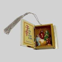 Holy Bible Nativity Christmas Ornament Hallmark