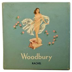 John Woodbury Rachel Powder Pack Empty Box Mid-Century