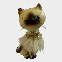 Vintage Winking Kitty Cat Salt or Pepper