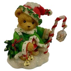 Cherished Teddies Wolfgang Santa Bear Spirit Of Christmas Figurine NIB