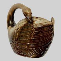 Sleeping Swan Planter Vase Nippon Yoko Boeki Co Japan