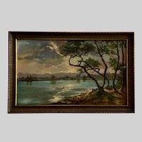 Keim, Lake Erie Shoreline Landscape Oil Painting