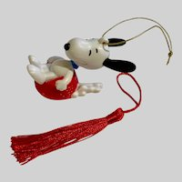 Snoopy Dog Bowl Sledding Christmas Ornament