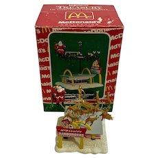 Vintage McDonalds Christmas Ornament Heading for Happy Holidays