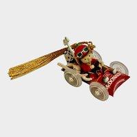 Vintage McDonalds Christmas Ornament Race Car On Your Mark