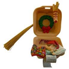 Vintage McDonalds Christmas Ornament McHappy Holidays