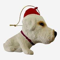 Kurt Adler The Dog Christmas Ornament West Highland Terrier Santa Puppy
