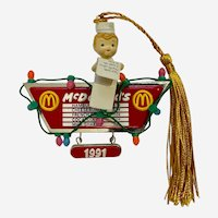 Vintage McDonalds Christmas Ornament Holiday Treats