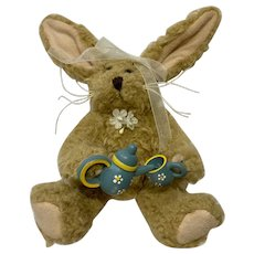Girl Anthropomorphic Bunny Dollhouse Tea Set Stuffed Animal Plush Rabbit