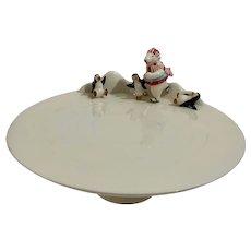 Harry & David Polar Bear & Penguins Christmas Cake Dessert Stand Plate