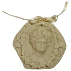 Cameo Lady Ornament Porcelain Mulberry Street Studio Mary Bellows