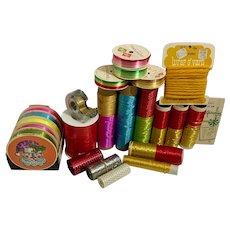 Mid-Century Christmas Package Ribbons Bows Ephemera Large Group